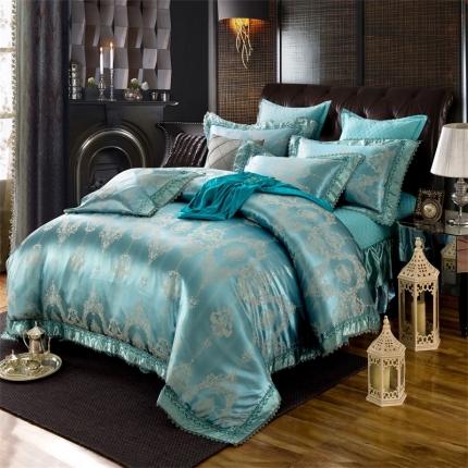 小时代家纺 提花加棉床裙床罩四件套 安斯艾尔