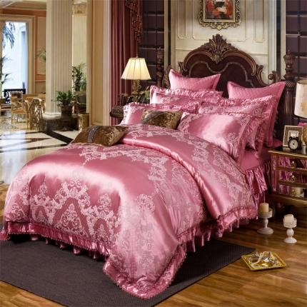 小时代家纺 提花加棉床裙床罩四件套 卡蒂珊娜