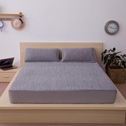 小时代家纺 水洗云母凉感席三件套 日式风格彩云-灰色