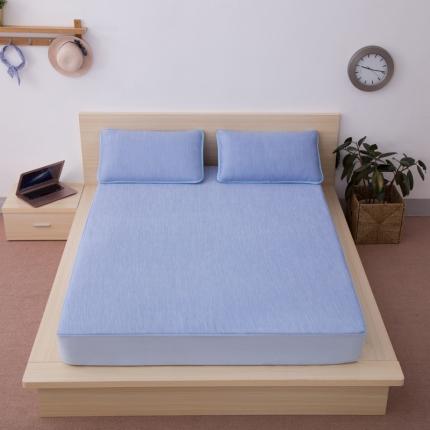 小时代家纺 水洗云母凉感席三件套 日式风格彩云-蓝色
