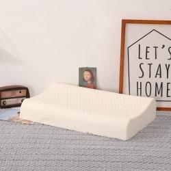 花瓣语 平面乳胶枕(带内外套) 白色