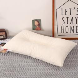 花瓣语 全棉乳胶枕 白色