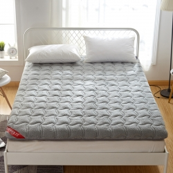 艾尚床垫 2019新款羊羔绒加厚床垫 灰色