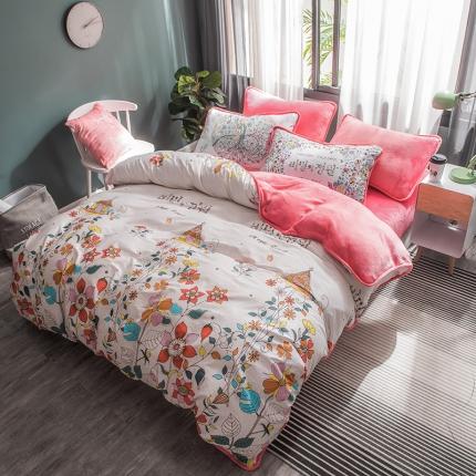 宜代光年 2018棉加法莱绒圆网床单款四件套 梦的城堡