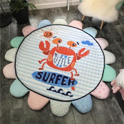 瑞米家居 太阳花地垫爬爬垫瑜伽垫 调皮螃蟹