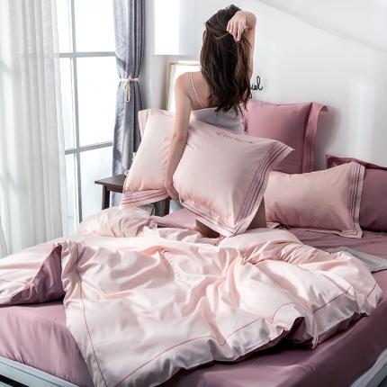 瑞米 60长绒棉素色绣工艺系列四件套 梦辰
