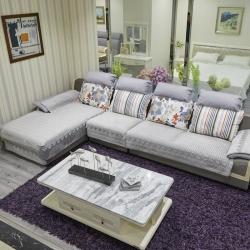(总)豹子垫业 2019新款荷兰绒水溶边沙发垫