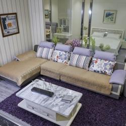 豹子垫业 2019新款荷兰绒水溶边沙发垫 荷兰绒-咖色