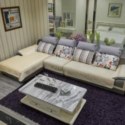 豹子垫业 2019新款荷兰绒水溶边沙发垫 荷兰绒-米色