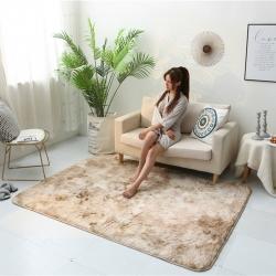 (總)鳳凰林2019 新款方形長毛扎染地墊地毯客廳墊腳墊