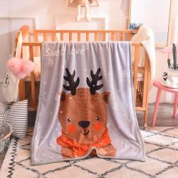 (總)寶派家紡 2019新款雙層包邊兒童毛毯