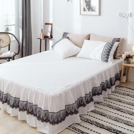 玉儿纺2019新款天空之城系列单品床裙 白色