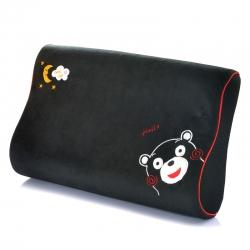 古德家居慢回彈枕芯記憶棉枕頭護頸枕頸椎保健枕頭卡通款黑熊