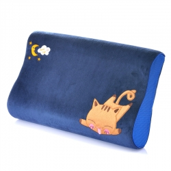 古德家居慢回彈枕芯記憶棉枕頭護頸枕頸椎保健枕頭卡通款貓咪