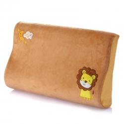 古德家居慢回彈枕芯記憶棉枕頭護頸枕頸椎保健枕頭卡通款獅子