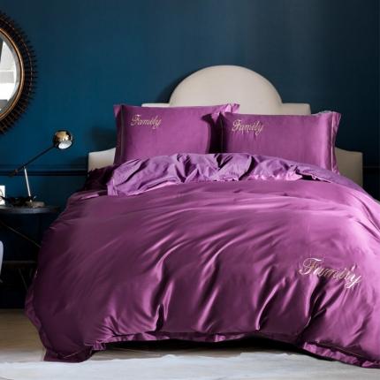 摩妮卡 2018新款水洗真丝四件套紫色