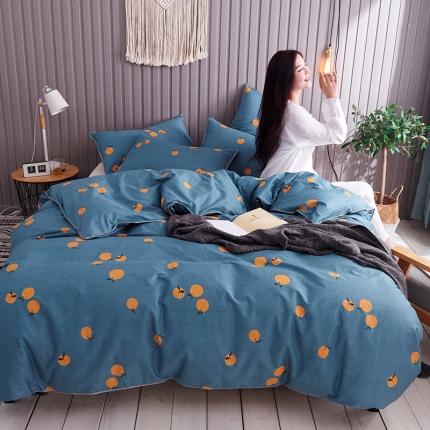 摩妮卡 2019新款全棉轻奢风系列四件套  甜橙