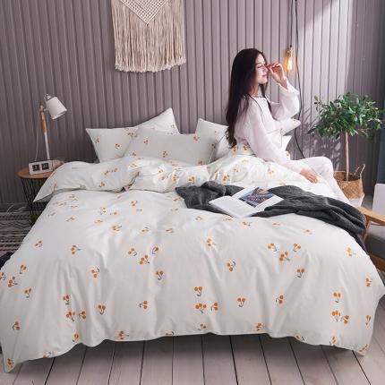 摩妮卡 2019新款全棉轻奢风系列四件套 小樱桃