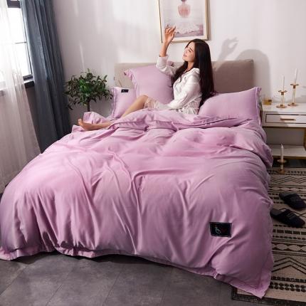 摩妮卡 2019新款双面水洗真丝四件套 粉红色