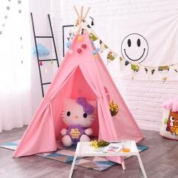纯棉印第安儿童帐篷超大室内游戏屋益智玩具公主房摄影道具