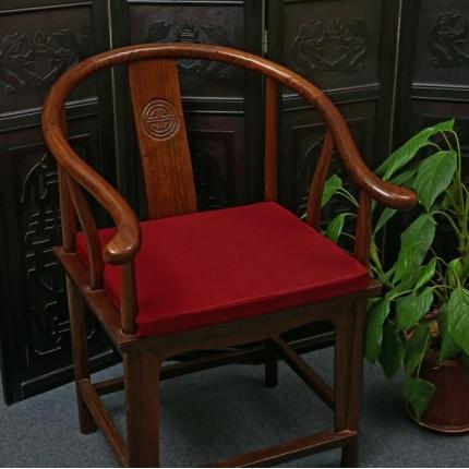 (总)雷晓家居 2018新款中式棉麻红木沙发坐垫