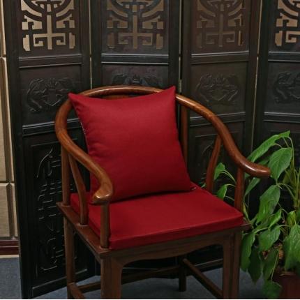 (总)雷晓家居 2018新款中式棉麻红木沙发靠垫