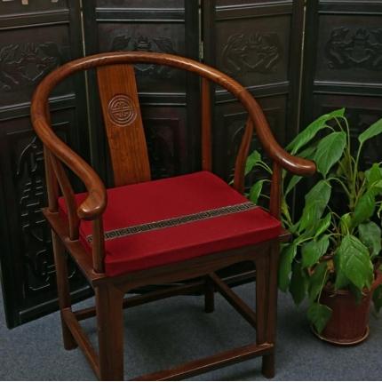 (总)雷晓家居 2018新款中式棉麻加条红木沙发坐垫