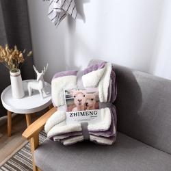 外貿原單冬季毛毯加厚保暖雙層純色簡約毯子微商網紅爆款珊瑚絨毯
