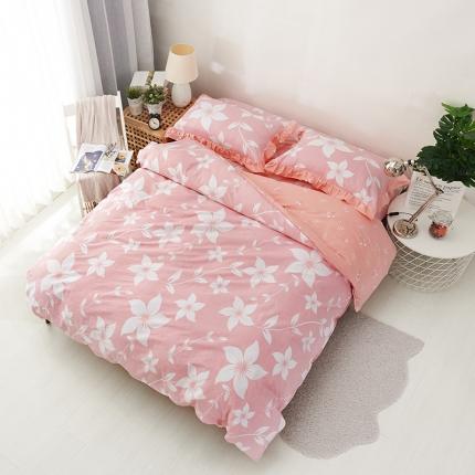 爱妮玖玖套件7全棉蕾丝款单层床笠四件套不含包装