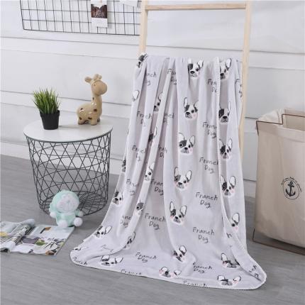 网客家纺 baby blanket双层加厚儿童绒毯 时尚狗