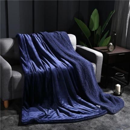 网客家纺 ULTIMATE顶级羊羔绒毛毯升级版帝王蓝
