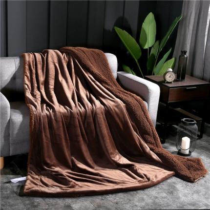 网客家纺 ULTIMATE顶级羊羔绒毛毯升级版太妃咖