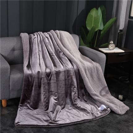 网客家纺 ULTIMATE顶级羊羔绒毛毯升级版太空灰