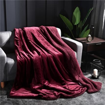 网客家纺 ULTIMATE顶级羊羔绒毛毯升级版西班牙红