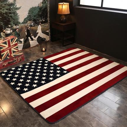 网客家纺 英伦地垫 美国旗