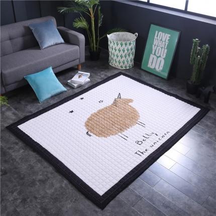 网客家纺 欧式棉质地垫 萌萌羊