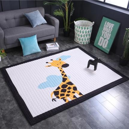 网客家纺 欧式棉质地垫 长颈鹿