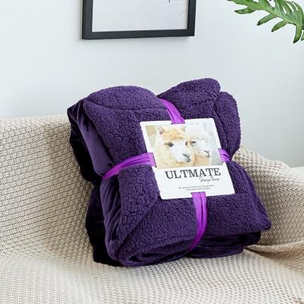 网客 潮牌双层羊羔绒毛毯 温莎紫同色