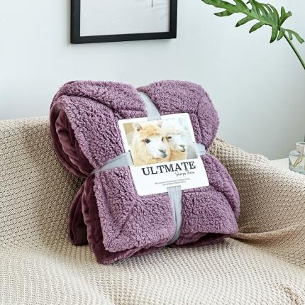 网客 潮牌双层羊羔绒毛毯 紫罗兰
