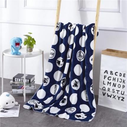 网客家纺 baby blanket双层加厚儿童绒毯 巴哥
