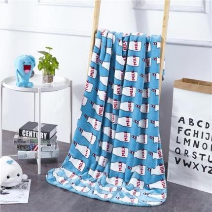 网客家纺 baby blanket双层加厚儿童绒毯 奶瓶