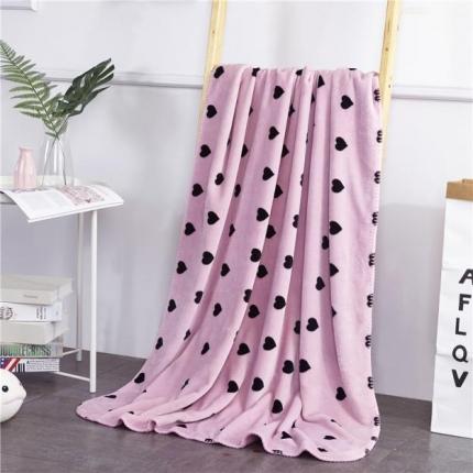 网客家纺 baby blanket双层加厚儿童绒毯 小桃心