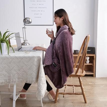 (总)网客家纺 2018新款羊羔绒懒人多功能披肩毯