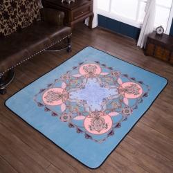 (总)会生活 北欧风新款居家水晶绒大版地垫爬行垫床边毯