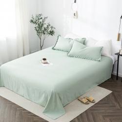 轻奢坊 2020新款褶皱公主风-单品床单 月白绿