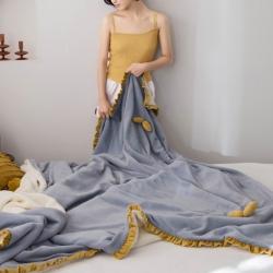 (總)輕奢坊 牛奶絨毛毯可套被芯法萊絨水晶絨單品被套
