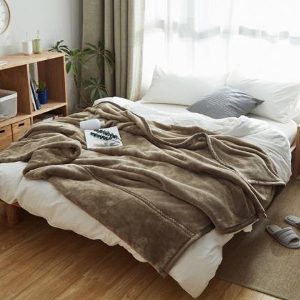 寐眠 无印法莱绒厚毛毯浅棕色
