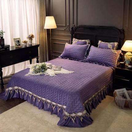 菊上家纺  2019法式浪漫贵妃绒系列单品床盖 浪漫紫