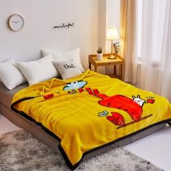 丹蘭家紡 雙層加厚拉舍爾毛毯冬季保暖毛毯被 情有獨鐘