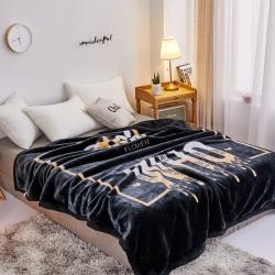 丹兰家纺 双层加厚拉舍尔毛毯冬季保暖毛毯被 心有所属